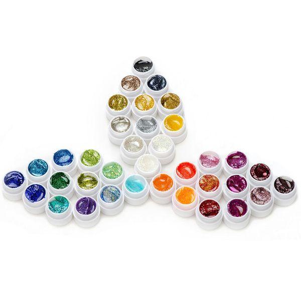 Wholesale-36pcs nail art gel UV set nail art polish colors set for decoration, nail design painting and building extension, 5ml/pcs