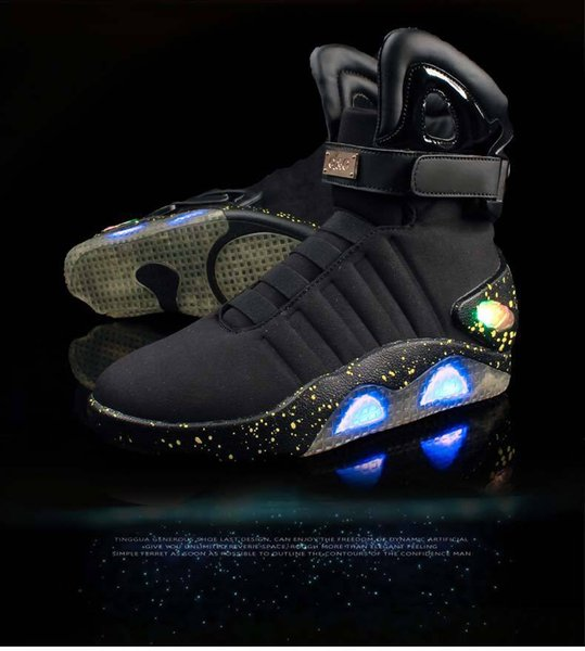 Mag Back to the Future Light Up Grey Trainers Shoes All Sizes NEW