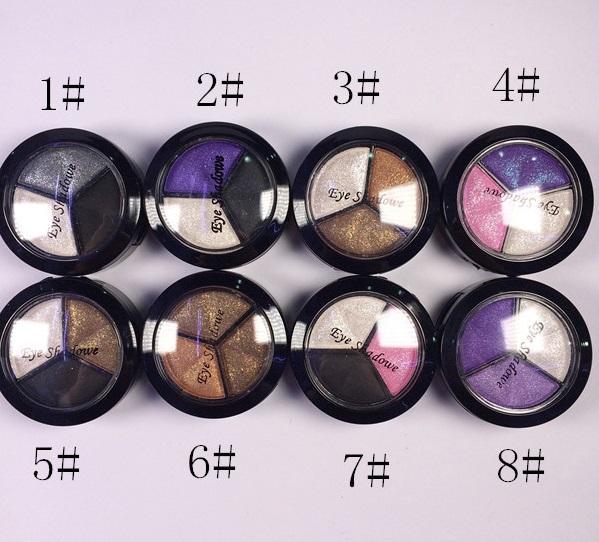 Venta al por mayor-2016 de alta calidad paleta desnuda maquillaje paleta de sombra de ojos 8 colores diamante brillante colorido sombra de ojos maquillaje de marca cosméticos D235