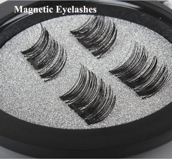 NO Glue Required!Permanent Magnetic Eyelash Individual Eyelash Extension kit 3D Mink Reusable False Magnet 4 Pieces Magnetic Eyelashes
