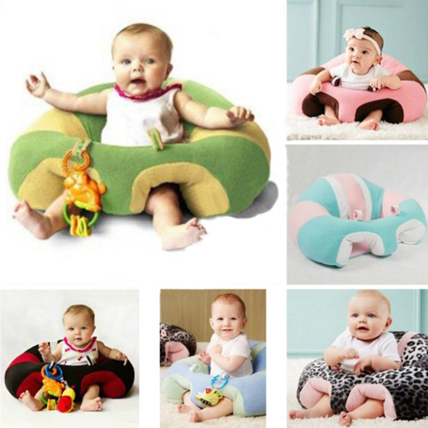 Fashion Cute Infant Baby Support Soft Seat Cotton Travel Car Seat Pillow Cushion Toys For 3-6 Months