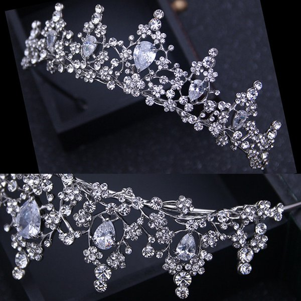 NEW Free Shipping Shinny Rhinestone Crystal Crown Wedding Party Prom Homecoming Crowns Band Princess Bridal Tiaras Hair Accessories Fashion