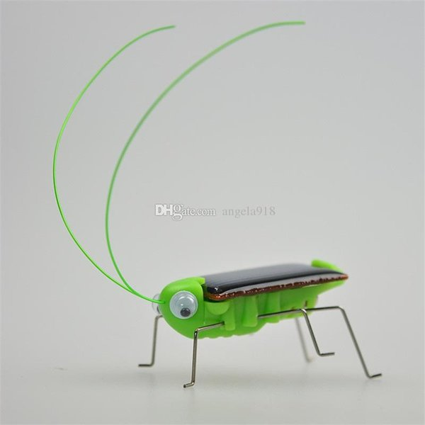 New Cute Solar Power Robot Insect Bug Locust Grasshopper Toy Solar Power Mini Toy Car Moving Racer Teaching Gadget C2090