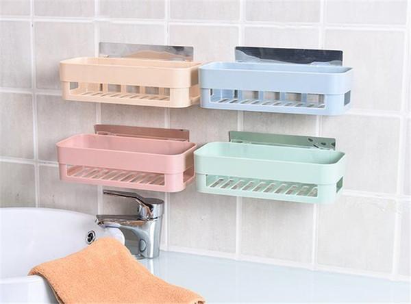 Großhandel 2 Farben Nahtlose Paste Regal Nordischen Toilette Badezimmer  Regal Wiederverwendbare Racks Hängen Speicher Halter Toilettenartikel ...