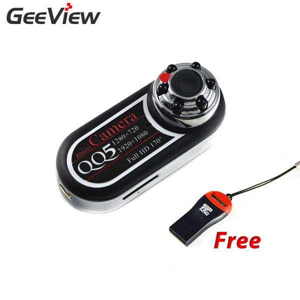 Großhandels-QQ5 Minikamera Full HD 1080P 720P Versteckte Infrarot-Nachtsicht DV Camcorder 12MP Webcam 170 Weitwinkel Micro Camara Espia
