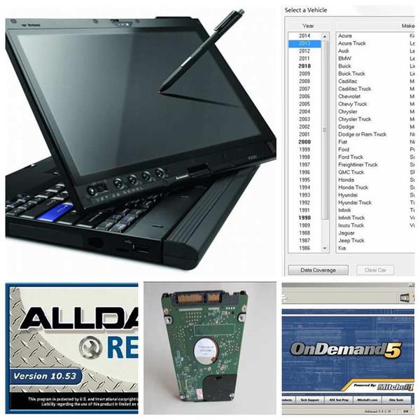Alldata 10.53 oto tamir Yumuşak eşya mitchell atsg 2017 tüm veri 1000 GB HDD yüklü x200t dizüstü dokunmatik ekran kullanıma hazır