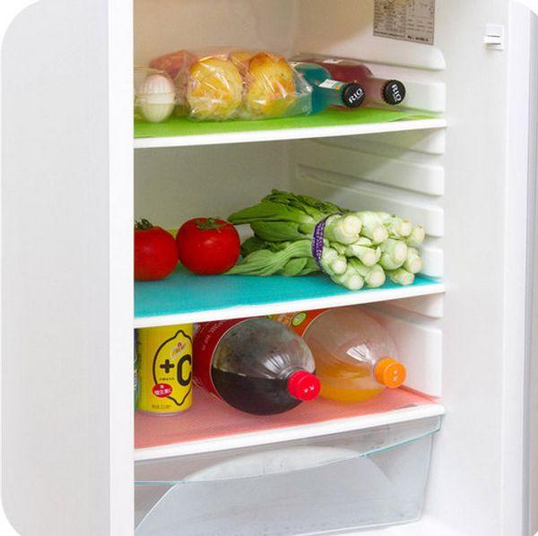 4 pz 1 Set Freeshipping 29 cm * 45 cm Moda pad frigorifero antibatterico antifouling muffa pad a prova di umidità frigorifero impermeabile stuoie