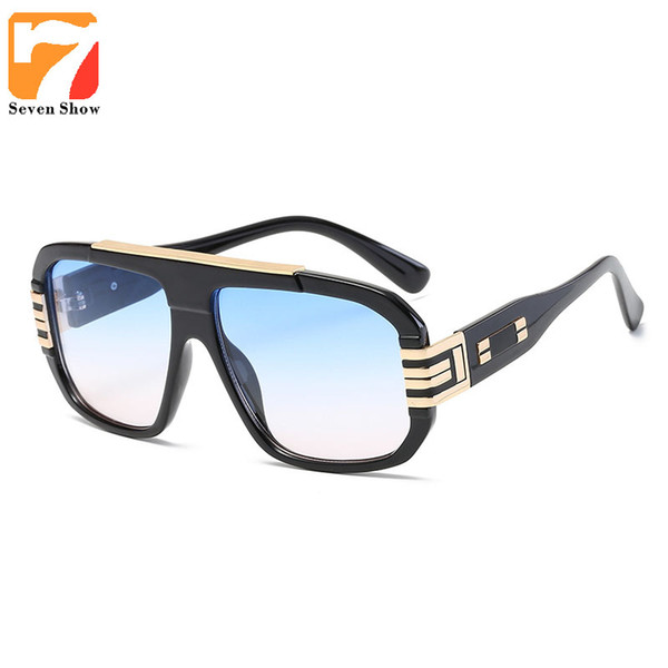 Wholesale- 2017 Eyeglasses Vintage Mens Brand Square Sunglasses Men Oversized Retro Sun Glasses For Women Steampunk Glasses Frame Oculos