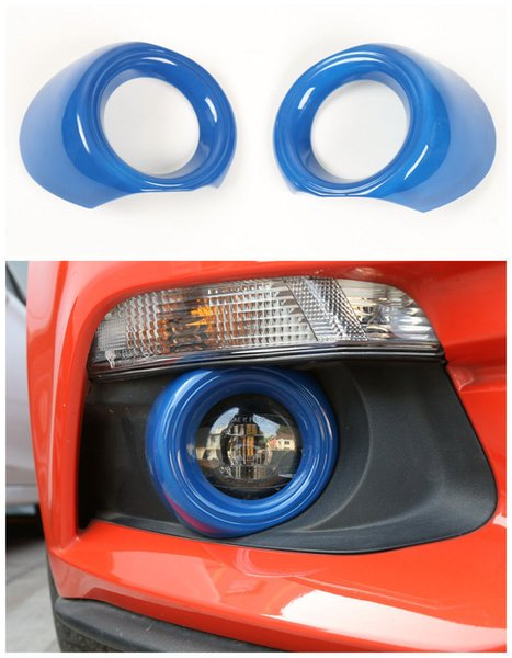 ABS Shiny Auto Front Bumper Fog Light Lamp Cover Trim For Ford Mustang 2015-2017