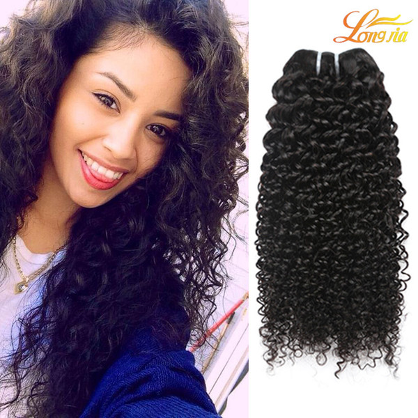 Factory 7A Unprocessed Brazilian Kinky Curly Hair Weave Extension Brazilian Virgin Human Hair Machine Double Weft Natural Color Can Be Dyed