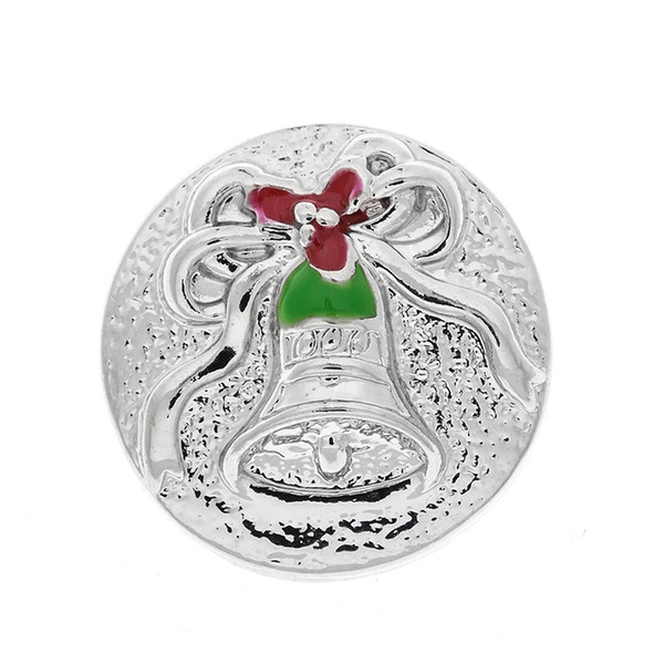 10 PCS new fashion charm bell snap button, suitable for 18 mm snap button jewelry, is the best gift
