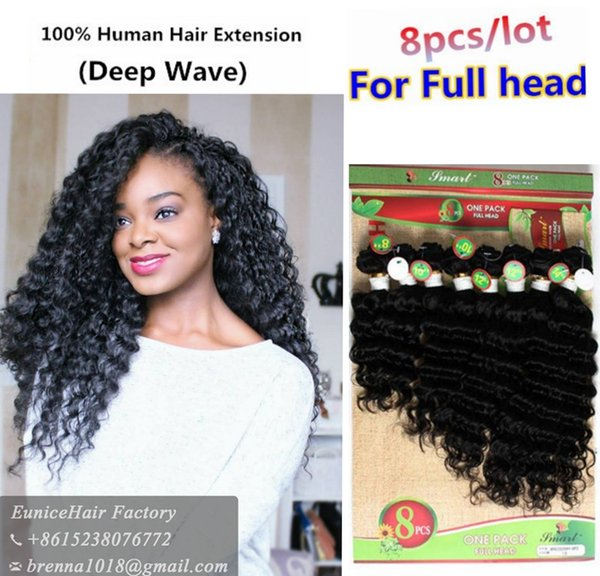 Brazilian natrual virgin human jerry curly kinky curly hair bundles 8pcs for full head cheap deep wave curly hair extension for black women