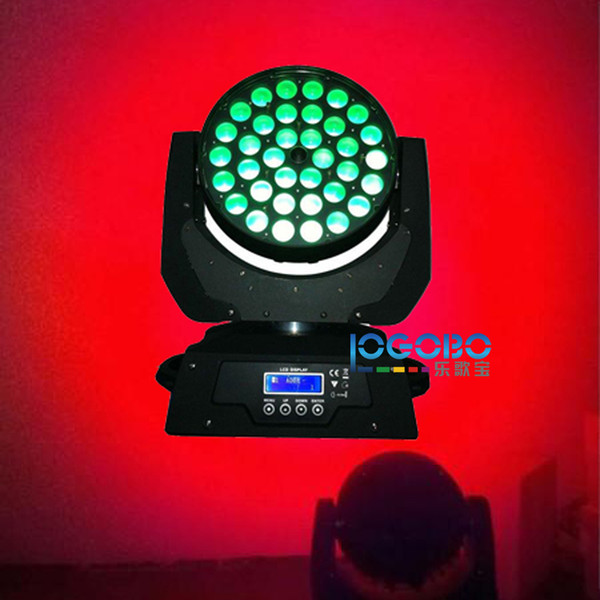 Free Shipping 10Wx36 Led Zoom Moving Head Wash Strobe Rainbow Effect Disco Club Church Stage Lighting Packages Cheap DJ Equipment, 2PCS/Lot