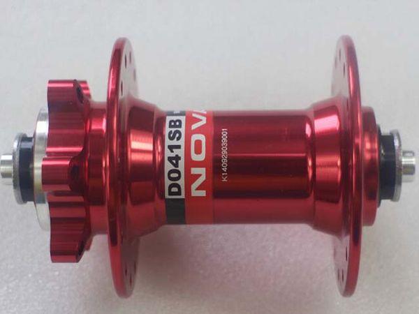New Novatec D041SB front hub 6 bolt disc brake Mountain hub Bearing 28 or 32hole black red blue gold colour Bike Hubs