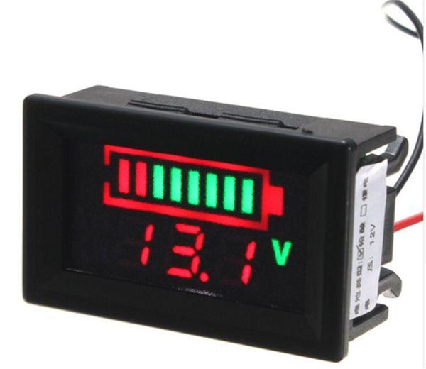 12 V Baterias de Chumbo Ácido LED Indicador de Capacidade Da Bateria Testador Digital Voltímetro New Tool Parts