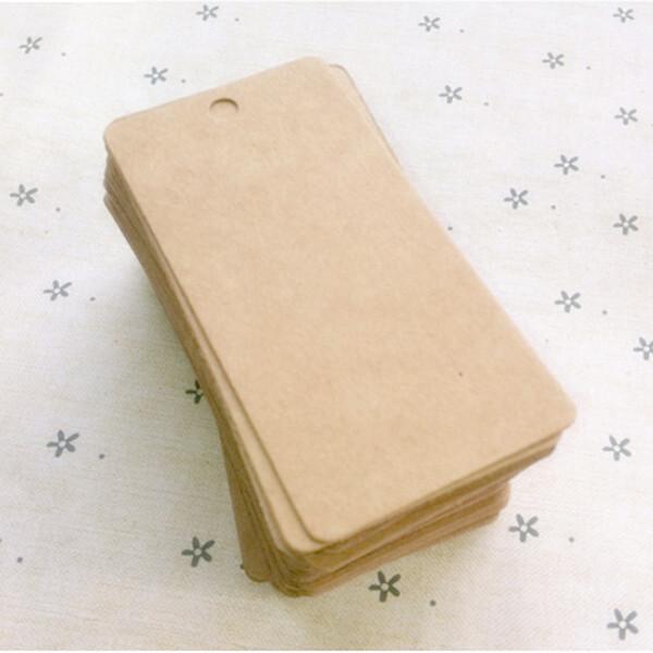 Wholesale-100Pcs New Brown Kraft Paper Tags Label Luggage Wedding Note DIY Blank price Hang tag Kraft Gift Wholesale
