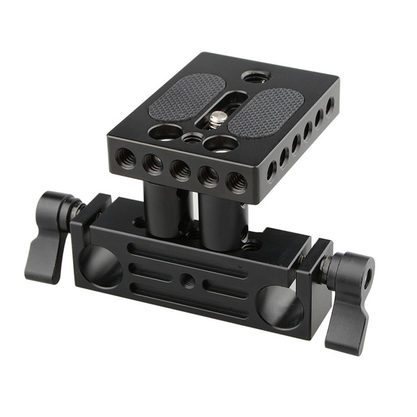 CAMVATE DSLR baseplate railblock 15mm rail rod support system mount fr follow focus rig