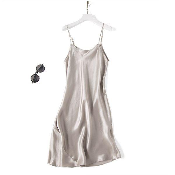 Avrupa ve Amerika Birleşik Devletleri lüks ipek İpeksi saten katı renk ayarlanabilir boyut kodu elbise etek elbise