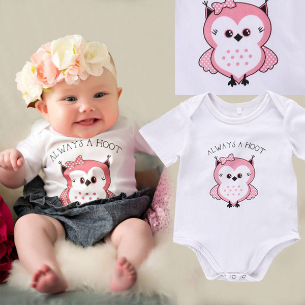 2019 Newborn Baby Infant Girl Sweet Boutique Clothes Plain White Pink Cute  Romper Short Toddlers Bodysuit Porn Jumpsuit Knit Outfits Free Ship From ...
