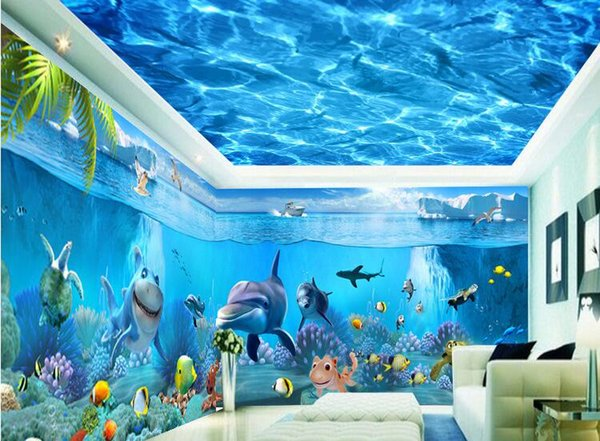 Custom large murals fabric wallpaper 3d wall paper kids room sitting room bedroom TV sofa background Cartoon fashion modern design