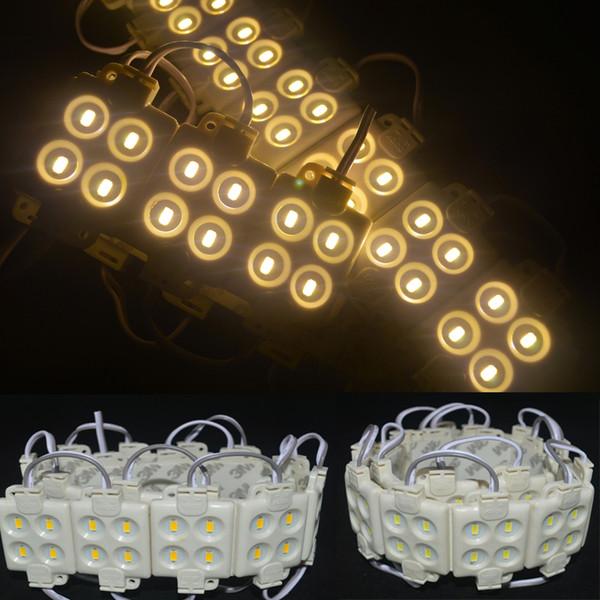 4led module d'injection Forme carrée 5050 5630 50lm 2W Haute luminosité LED Rétro-éclairage 12V étanche Anti-statique anti-feu ABS shell