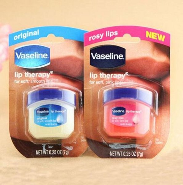 2017 Hot Vaseline Cream Rosy Lip Balm Lasting Long Lip Therapy Soft and Smooth Lips makeup Anti Wrinkle Aging Refresh Nourish free ship