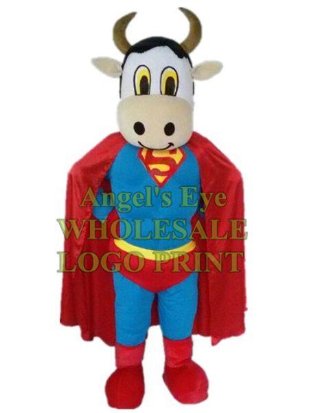 молока корова Супермен costumecustom талисмана взрослый размер персонажа из мультфильма карнавал cosply костюм 3234