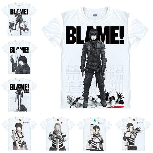 Motivs hentai Shirt BLAME T-Shirts Multi-style Short Sleeve Killy, Cibo Anime Cosplay Shirts Kawaii