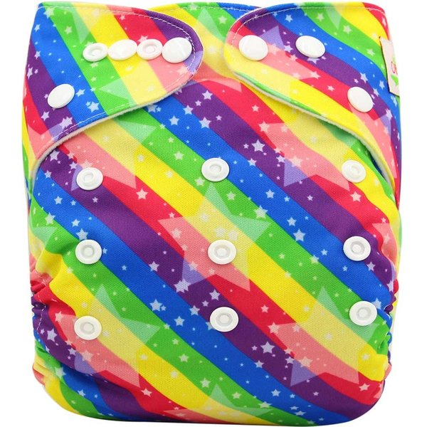 Couches Lavables Baby Nappies Brand Baby Cloth Diaper Cover Pocket Size Adjustable Character Reusable Baby Diapers Washable