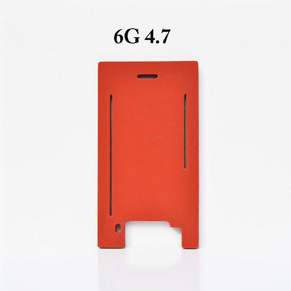 Tappetino plastico in silicone + + per iPhone 5 5s 5c 6 6s 7 più vetro frontale con telaio per plastificazione