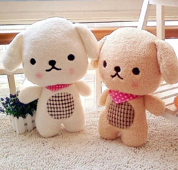 Lovely dog plush toy stuffed doll biscuit dog cute puppy scarf sofa pillow cushion warm sleeping baby birthday gift