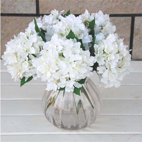6 colors Upick--12Pcs/lot large size DIY Wedding bouquet Bride Bridesmaid Bouquet Simulation Silk Hydrangea Flowers Wedding Party Home Decor
