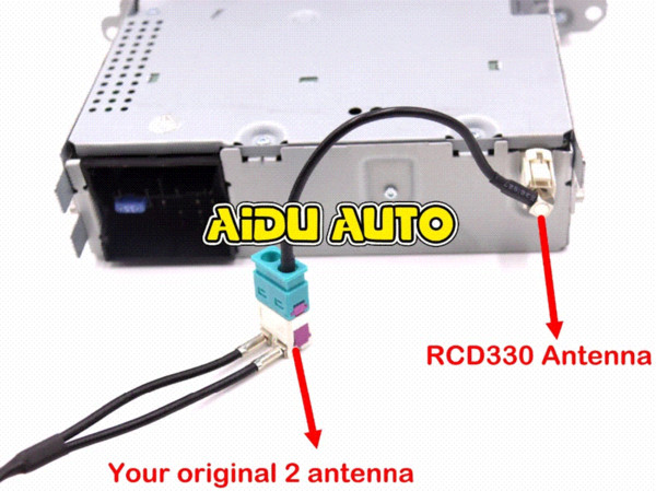 FOR VW Car Radio RCN210 RCD330 RCD330 G FAKRA Antenna Adapter Radio 2 To 1  MFD NZ 2019 From Maike2, NZ $15 06 | DHgate NZ