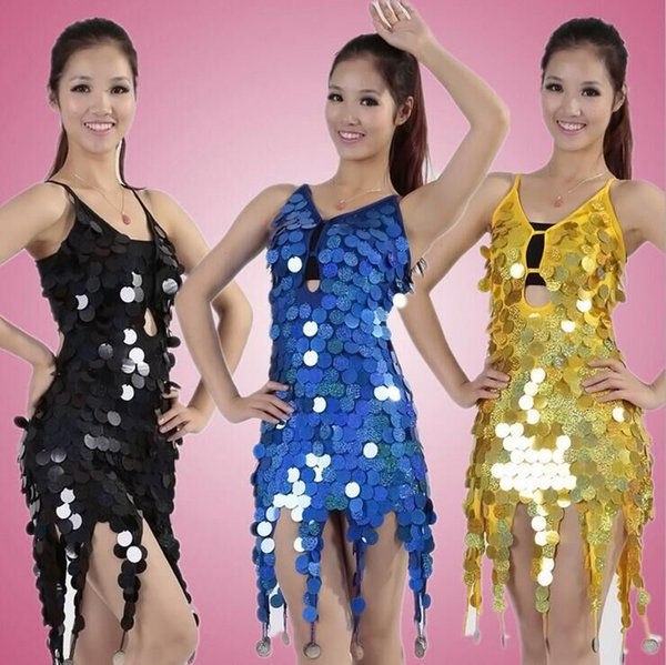 79fc7e8702862 Women's sexy fringe latin ballroom salsa cha cha Samba rumba jive dancewear  competition Sequin fancy dress