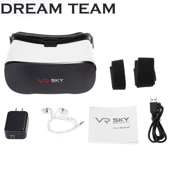 Vente en gros VR SKY CX - Lunettes de réalité virtuelle casque 3D tout-en-un V3 1080P 100 degrés de champ de vue avec fente pour carte tactile TF pour jeu ou film