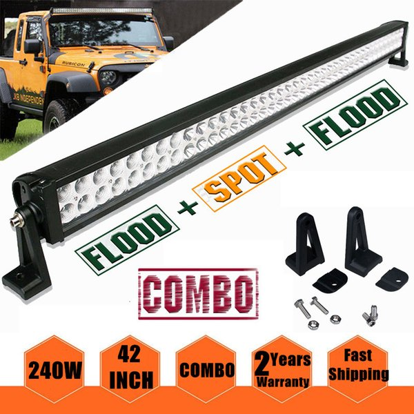 42 inch 240W Led Work Light Bar Spot Flood Combo 4WD Driving Off Road Lamp Tractor Car Truck Jeep Vehicle Excavator 10-30V Waterproof IP67