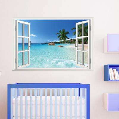Acquista Zy1430 Landcape Spiaggia Del Mare 3d Adesivo Da Parete In ...
