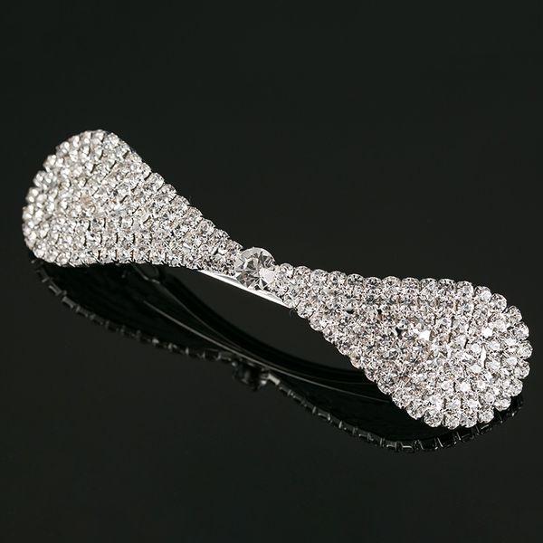 YFJEWE Fashion Hair Accessories Hair wear bow Crystal Hair Clip Pins Wedding Decoration Bridal Head Jewelry for women gift #H012