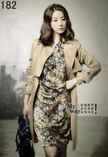 Весенний и осенний период и бутик han edition британский элегантный досуг мода женщина плюс размер пальто / S-4XL
