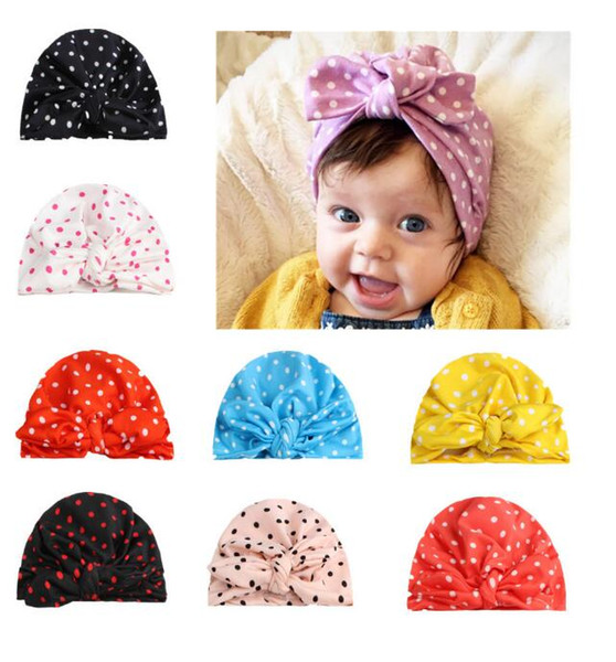 free shipping fashion new baby hair dot headflwers &hats accessories 100pcs /lot more 12color for 0-3T baby free size