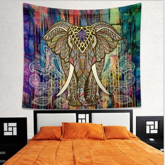 Bohème Tapisserie 150 * 130 cm Indien Mandala Tapisserie Hippie Tenture murale Bohème Couvre-lit Jeter Décor À La Plage Plage Châle KKA1456