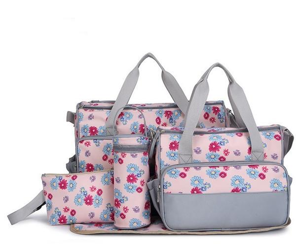 Toptan Satış - Toptan 5 Sıcak Çok Fonksiyonlu Fasion Nappy Annelik Bezi Anneler İçin Çiçek Çantalar Marka Bebek Çantaları Marka Bebek Çantaları