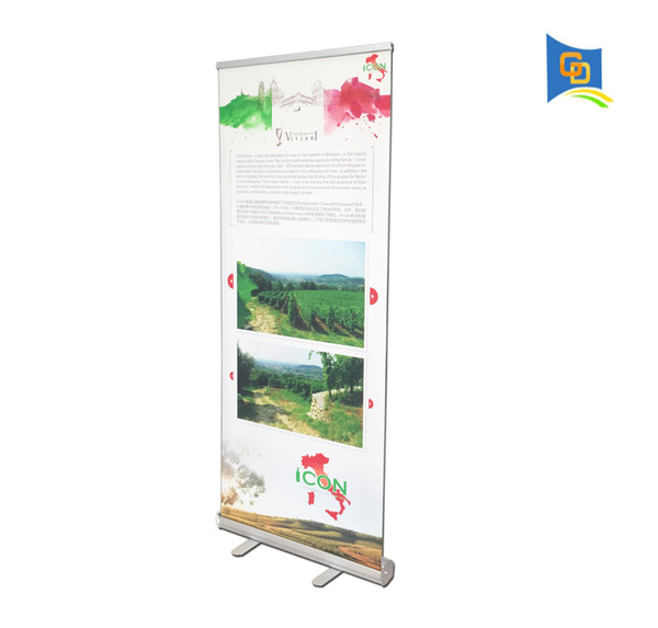 6pcs Wholesale 85*200cm High-quality Thicker Aluminum Retractable Roll Up Display Banner Stand for Trade Show Advertising without Graphic