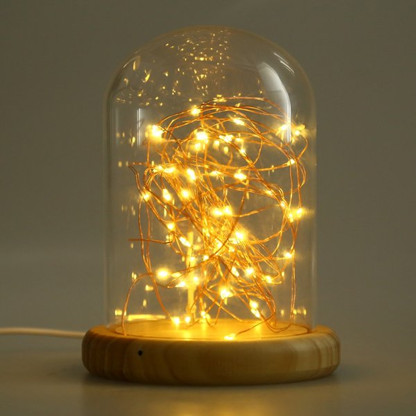 Wholesale led night light copper wire lights usb rechargeable wholesale led night light copper wire lights usb rechargeable firework table lamp for kids bedroom greentooth Gallery