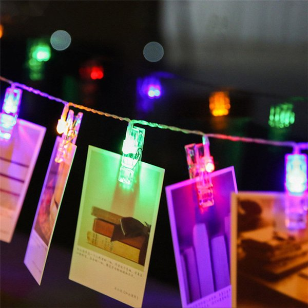 Mini Led Diy Photo Clip String Lights Battery Operated Christmas Lights New Year Party Wedding Home Decoration 1 2m 2 2m 4 2m Fairy Lights Battery Led