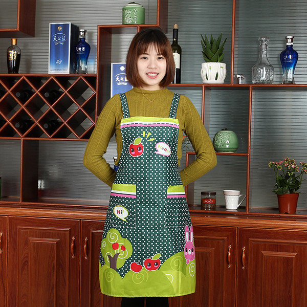 best selling Good A++ New cotton canvas advertising apron cute fruit hood kitchen apron A008 mix order as your needs