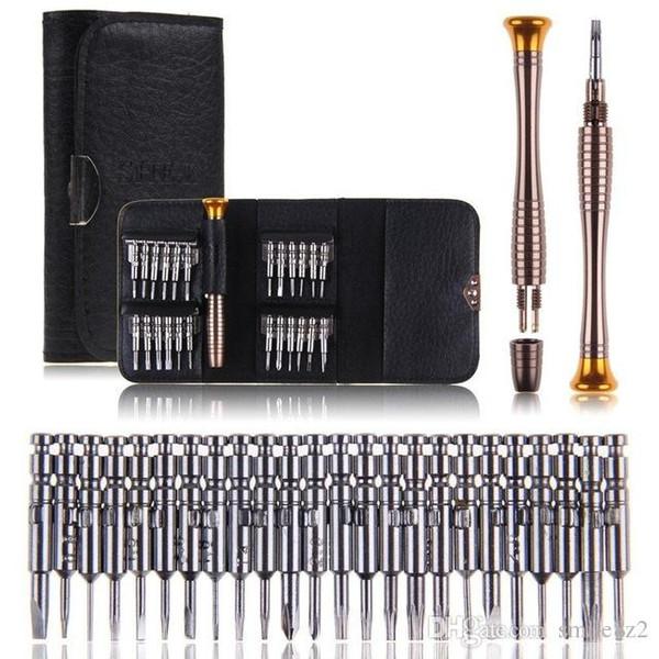 25 in 1 Precision Torx Screwdriver Wallet Repair Tool Set Multi Tool Herramientas For iPhone Laptop Cellphone Electronics PC New +B