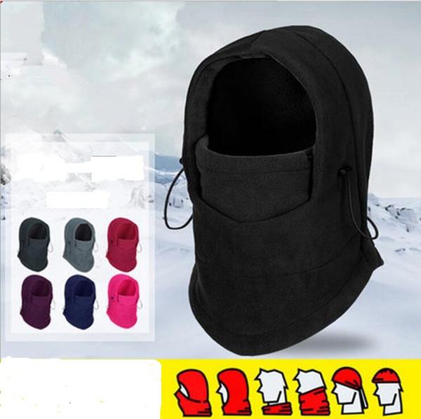 Cappellini natalizi Maschere per il viso Silenziatore antivento Sciarpa in pile a doppia faccia Multifunzione Calda impugnatura Passamontagna in bicicletta più calda Maschere termiche