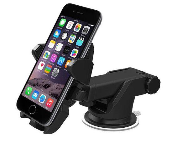One Touch Araç Dağı Uzun Boyun Evrensel Cam Dashboard Cep Telefonu Tutucu Samsung S8 Artı iPhone 7 için Güçlü Emme artı