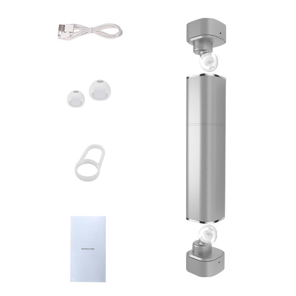 TWS K2 Twins Wireless Bluetooth V4.1 Stereo Headset Lipstick-Sized In-Ear Earphones for iPhone Samsung S8